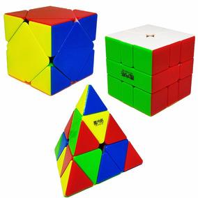 Kit Cubo Mágico Skewb + Square-1 + Pyraminx Qiyi-mfg
