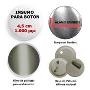 Insumo Suprimento Para Boton Button Botton 1.000 Pçs 4,5 Cm