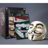 Máscara V De Venganza Con Libro. Original Envío Gratis Dhl