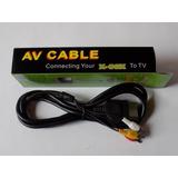 Cable Rca Audio/video Xbox Clasico ,negro