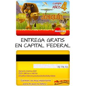 Tarjeta De Credito Invitacion Cumpleaños Comunion Bautismo