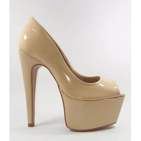 Sapato Salto Alto Numeração Especial Verniz Conforto C38