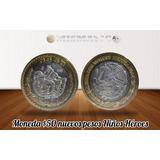 Moneda 50 Nuevos Pesos Niños Heroes Centro De Plata 0.925 Fn