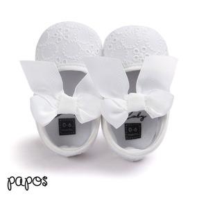 Zapatos Para Bebe Con Bordado De Flores