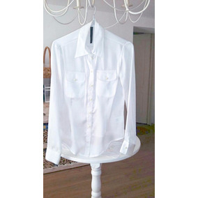 Camisa Delaostia Color Manteca, Talle 2, Impecable Estado !