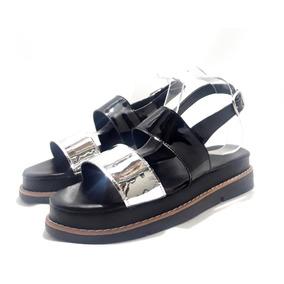 Sandalias Malefica Talles Grandes Modelo Platy Negras Eco