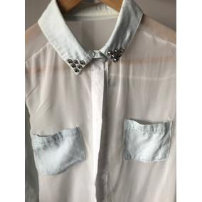 M98. Camisa De Mujer De Gasa Con Tachas Súper Fina Delicada