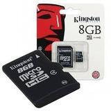 Memoria Microsd Micro + Sd Kingston 8gb 8 Gb
