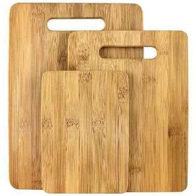 Tabla De Cortar Picar De Bambu 3 Pzs *envio Gratis*