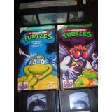 Las Tortugas Ninjas Vhs Dibujos Animados Lote De 3 Videos