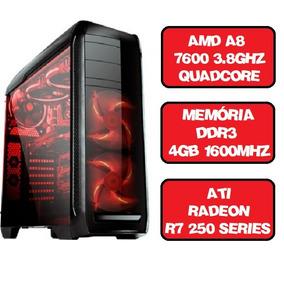 Computador Gamer A8 7600 Quad Core 3.8 Ghz Hdmi 4gb Ati Rade