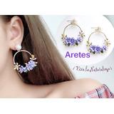 919956f79127 Aretes De Flores Juveniles Accesorios Moda Con Flores Verano