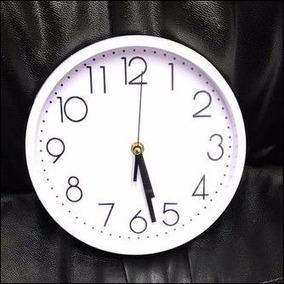Reloj De Pared Borde Y Fondo Blanco C/ Números Negros 23 Cm