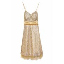 Vestido Tela Brillo Con Tul De Fiesta, Mujer, Brishka M-0091