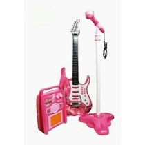 Guitarra Infantil Com Caixa Amplificada Mp3