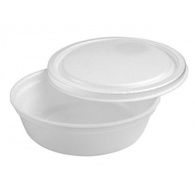 Embalagem Descartável Em Isopor Para Marmitex 500ml R100