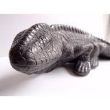 Iguana Estilo Dinosaurio Hecha En Barro Negro De Oaxaca