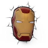 Mascara De Iron Man Lámpara 3d Marvel Envio Gratis