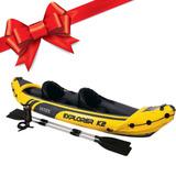 Kayak Con Asiento Y Respaldo Con 2 Remos Intex Regalo !