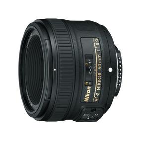 Lente Af-s Nikkor 50mm F/1.8g Afs Normal Nikon