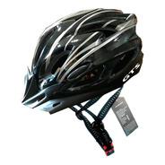 Capacete Cinza Inn Mould Com Sinalizador Led Ciclismo Bike