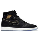 Tenis Nike Air Jordan 1 Retro High Og In Black Gold Oferta!!