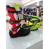 Kit Motocross/trilha Capacete+óculos Espelhado+bota-promoção