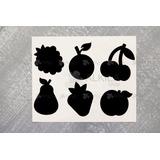 Etiquetas Tipo Pizarra Frutas 6 Etiqueta Decorativa Sticker
