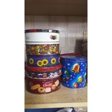 Conjunto De 06 Latas Decorativas Vazias