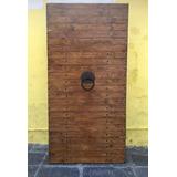 Puerta Hecha Con Madera Antigua Dos Vistas