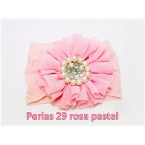 Set De 2 Tiaras Niña O Bebé Shabby Perlas Rosa Pastel