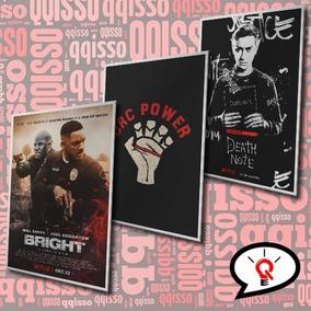 Placa Decorativa Bright Death Note Dark Netflix Series