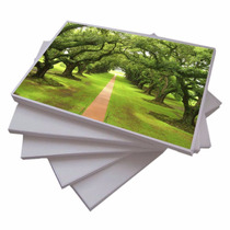 100 Folhas Papel Fotográfico Adesivo Matte 108g A4