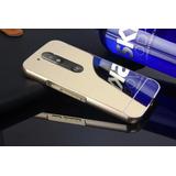 Bumper Case Capinha Celular Espelhada Moto G4 Plus Alumínio