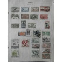 49.- Timbres Postales 1927-1955 Correo Aéreo México