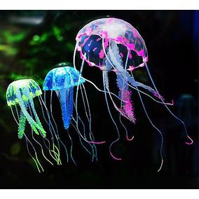 Medusa Luminiscente - Fluo Para Pecera 7.5 Cm 6 Colores