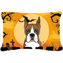 Boxeador De Halloween Tela Almohada Decorativa Bb1781pw1216
