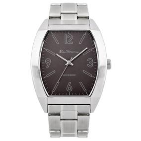 Ben Sherman R951 Hombre Negro Y Reloj De Plata
