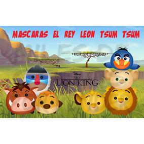 Mascara Antifaz De Rey Leon Tsum Tsum Simba Lana Timon Pumba