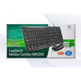 Mouse Y Teclado Multimedia Logitech Mk200 Original Importad