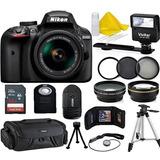 Kit Cámara Nikon D3400 18-55mm Vr + Accesor Envio Inmediato