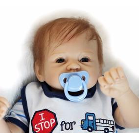 Boneco Bebê Reborn Miguel Siliconada