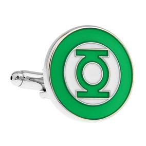 Mancuernillas Linterna Verde Acero Superheroes Gemelos