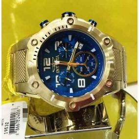 12a02350637 Relógio Invicta 19532 Speedway B Ouro 18 Blue Original 52mm. R  1.289