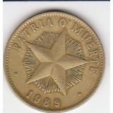 Cuba, Antigua Moneda De Cobre 1 Peso 1.989