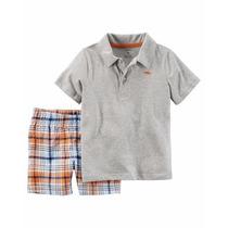 Conjunto Carters 2 Piezas Short Y Chomba Camisa Original