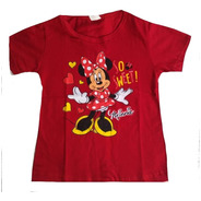 Kit Atacado C/5 Camiseta Babylook Infantil Personagem