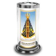 Copo Para Vela De 7 Dias Vidro E Alumínio Anti-chama