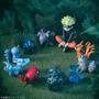 10 Miniaturas Naruto,bestas Bijus Kyuubi Shuukaku Kitsune