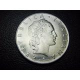Moneda Republica Italiana 50 Libras 1961 Niquel